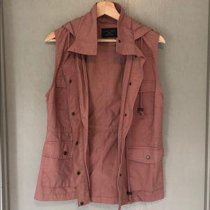 Pink hooded utility vest